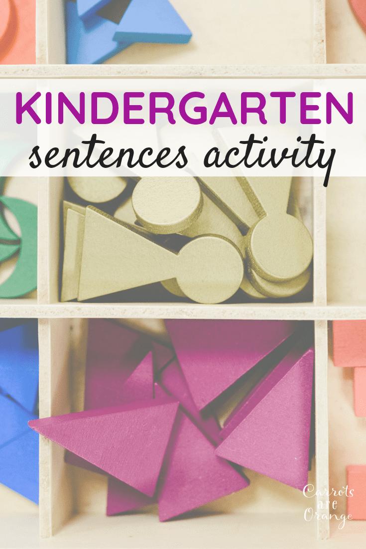 Montessori Language Kindergarten Sentences Activity