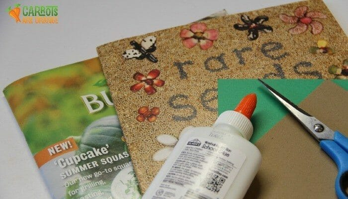 Spring Activities for Preschoolers: Make a Seed Collage