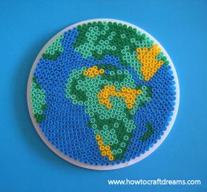 Perler Bead Earth