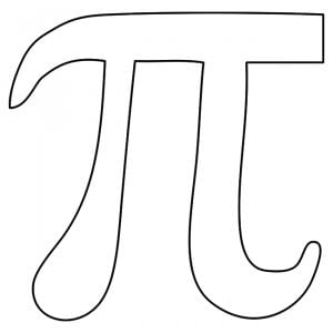 pi coloring page