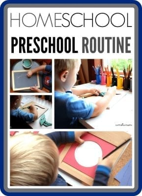 homeschool preschool routine