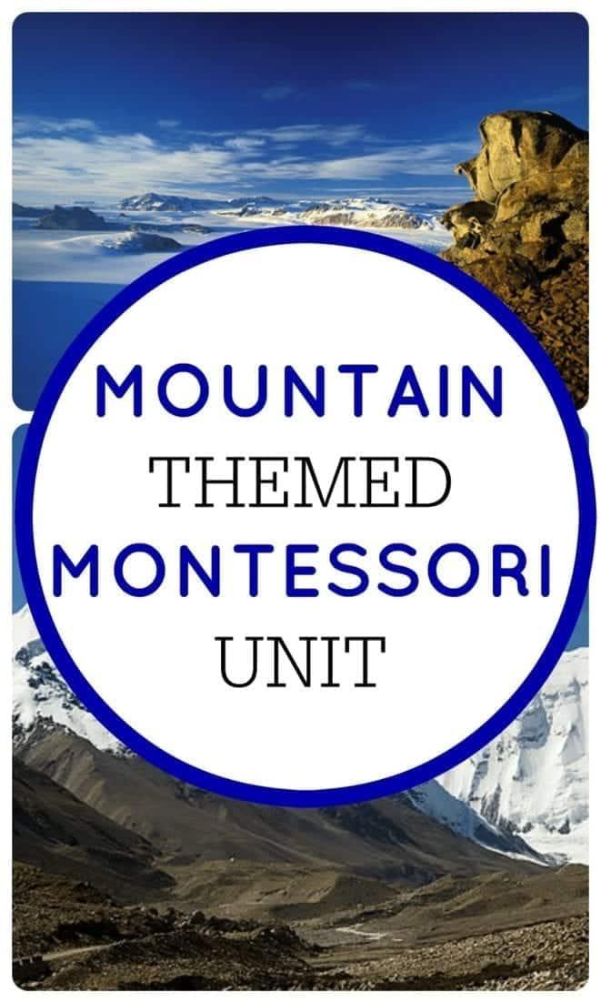 Montessori Unit on Mountains