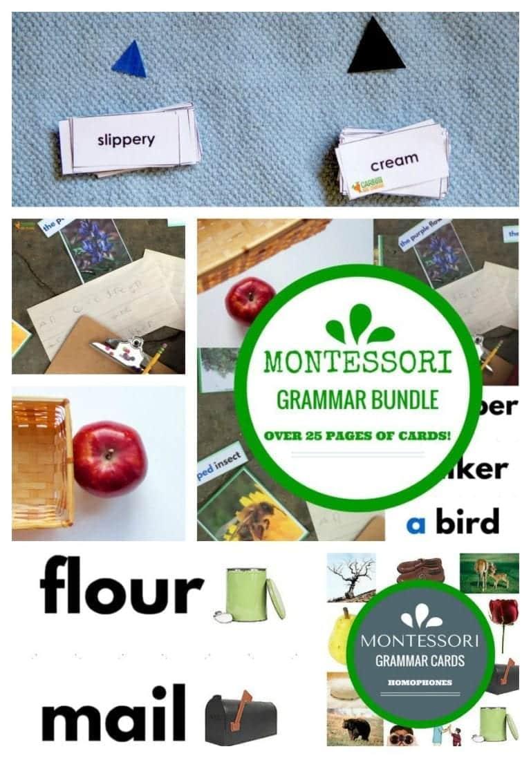 Montessori Grammar Pinterest