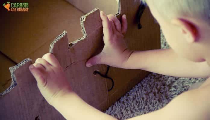 How to Make a Cardboard Castle Drawbridge