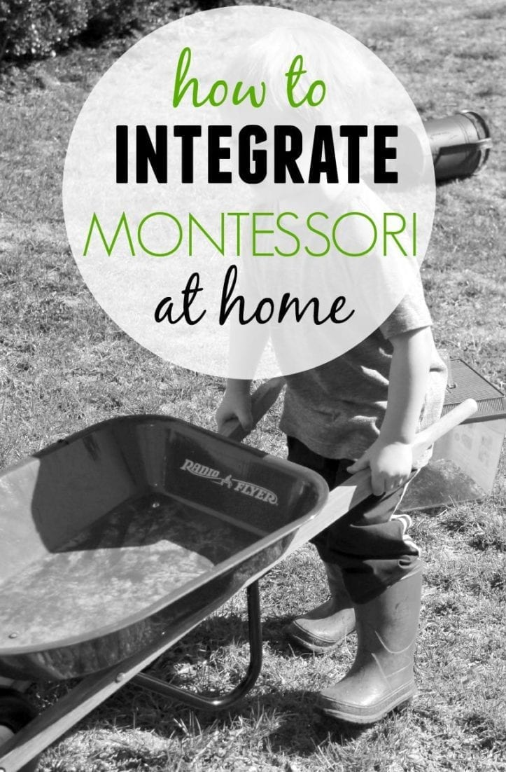 Montessori at Home with a Wheelbarrow