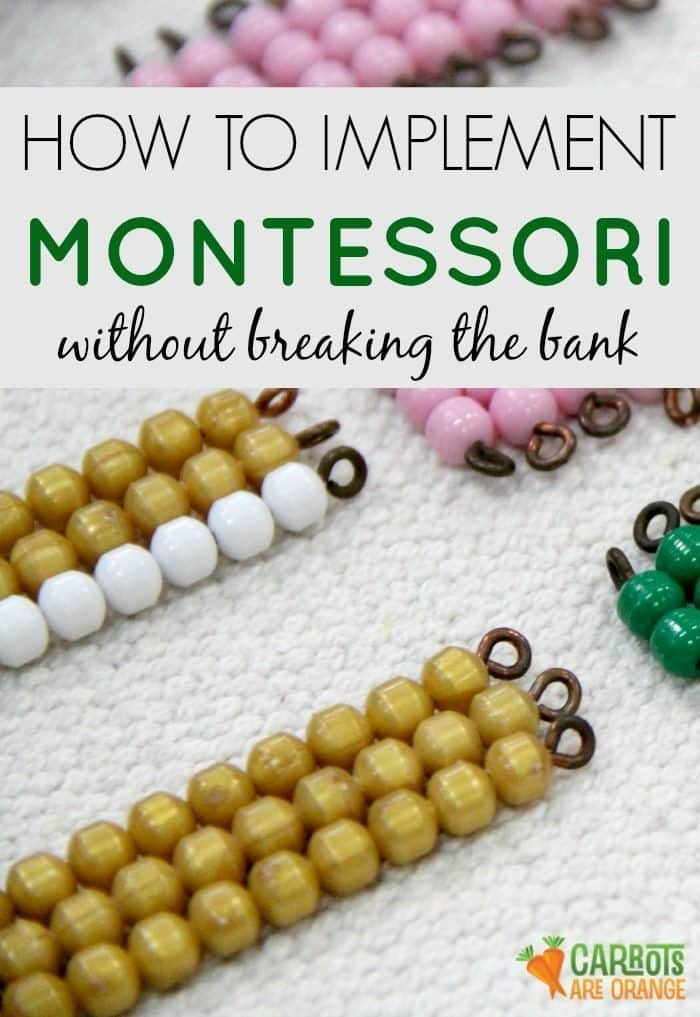 How to Implement Montessori on a Budget