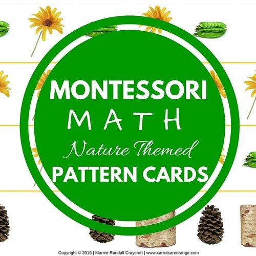 Montessori Math Pattern CArds