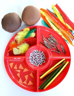 montessori thanksgiving activities playdough