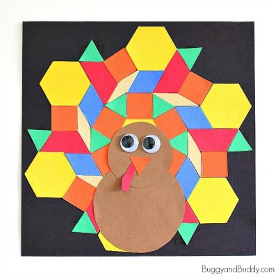 montessori thanksgiving activities with pattern blocks
