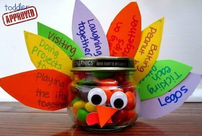 montessori thanksgiving activities turkey treat jar