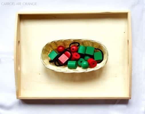 christmas winter montessori tray
