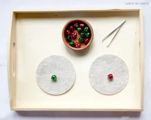 MONTESSORI CHRISTMAS TRAY