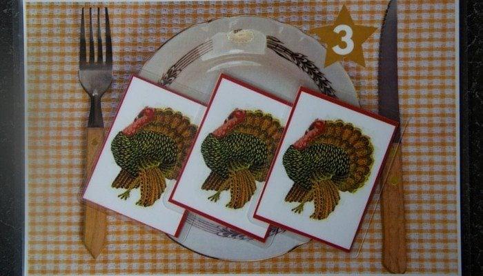 Montessori Thanksgiving Math Card Counters