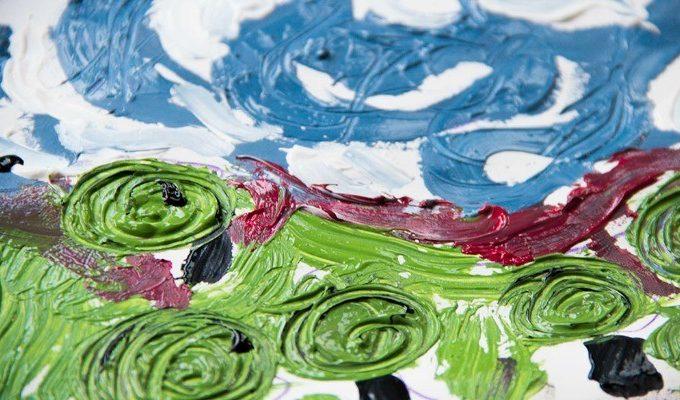 Art Activity for Toddlers & Preschoolers - Van Gogh Art