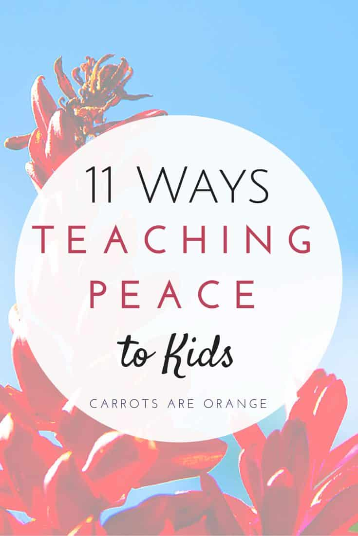 teach peace to kids