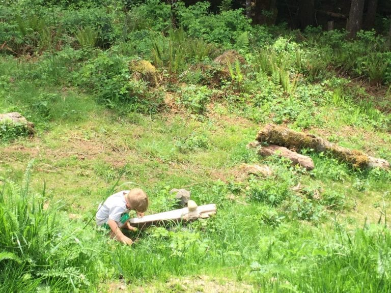 children in nature balance