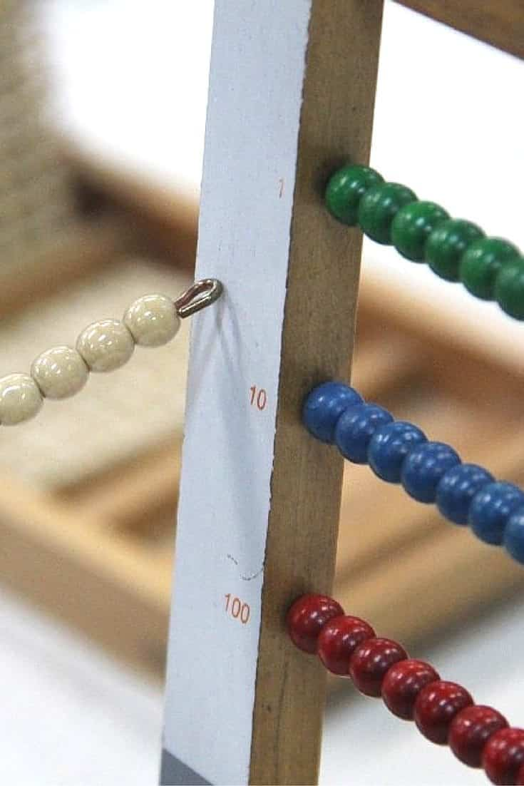 Montessori Math Small Bead Frame