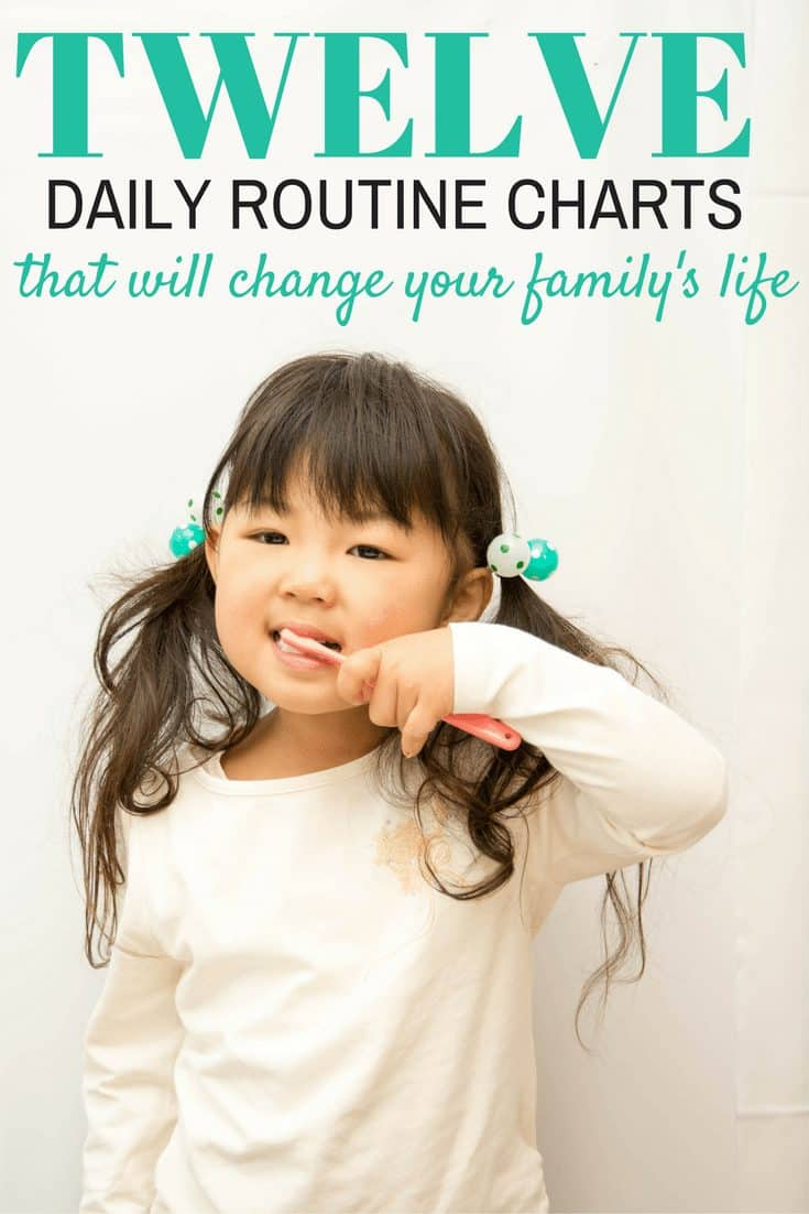 12 Daily Routine Charts for Kids
