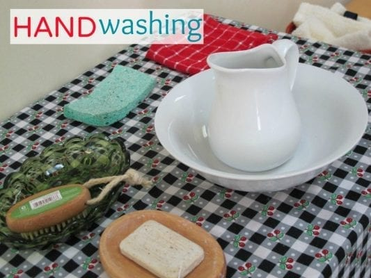 MONTESSORI PRACTICAL LIFE Handwashing