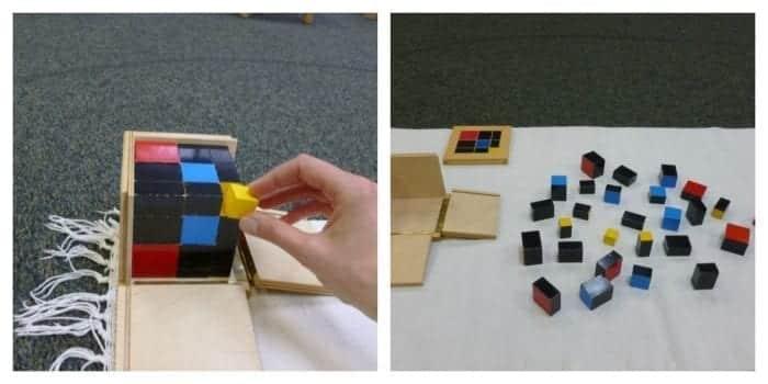 Montessori Trinomial Cube