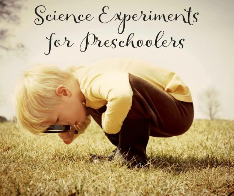 Simple & Fun Science Experiments for Preschoolers