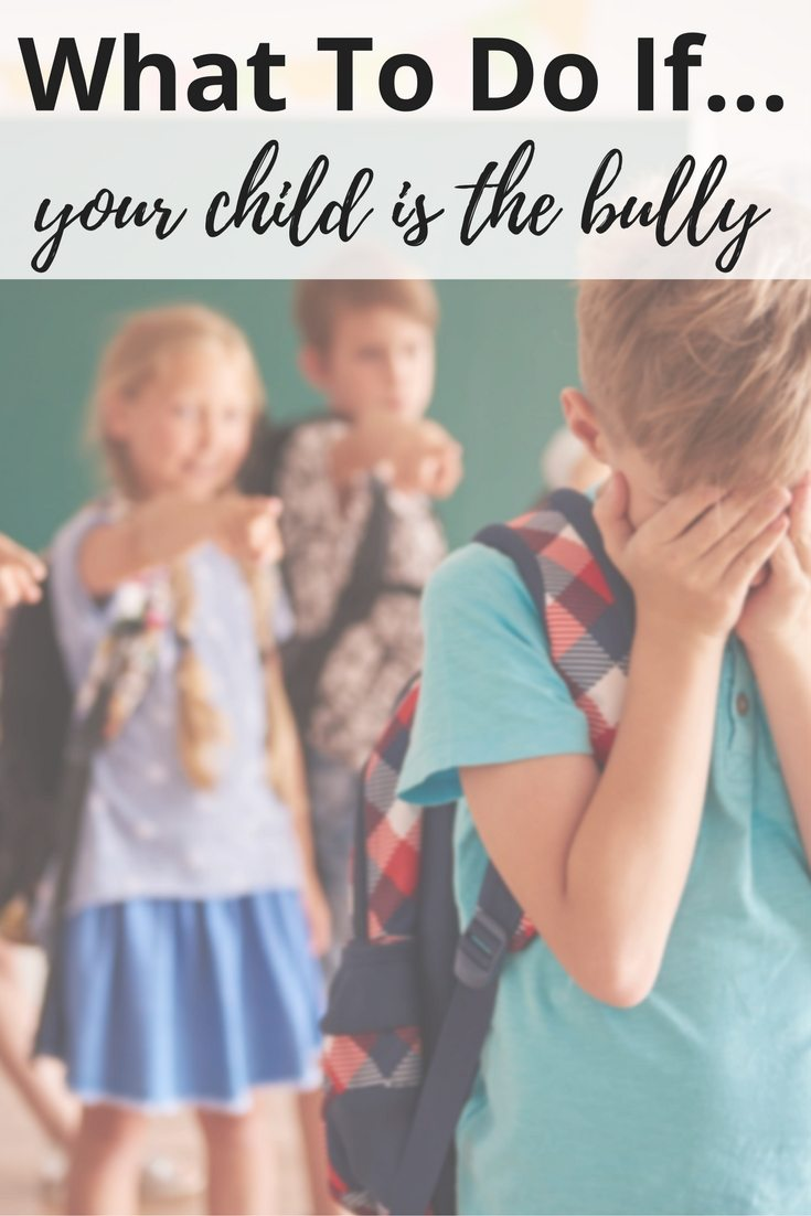 What To Do If Your Child is the Bully