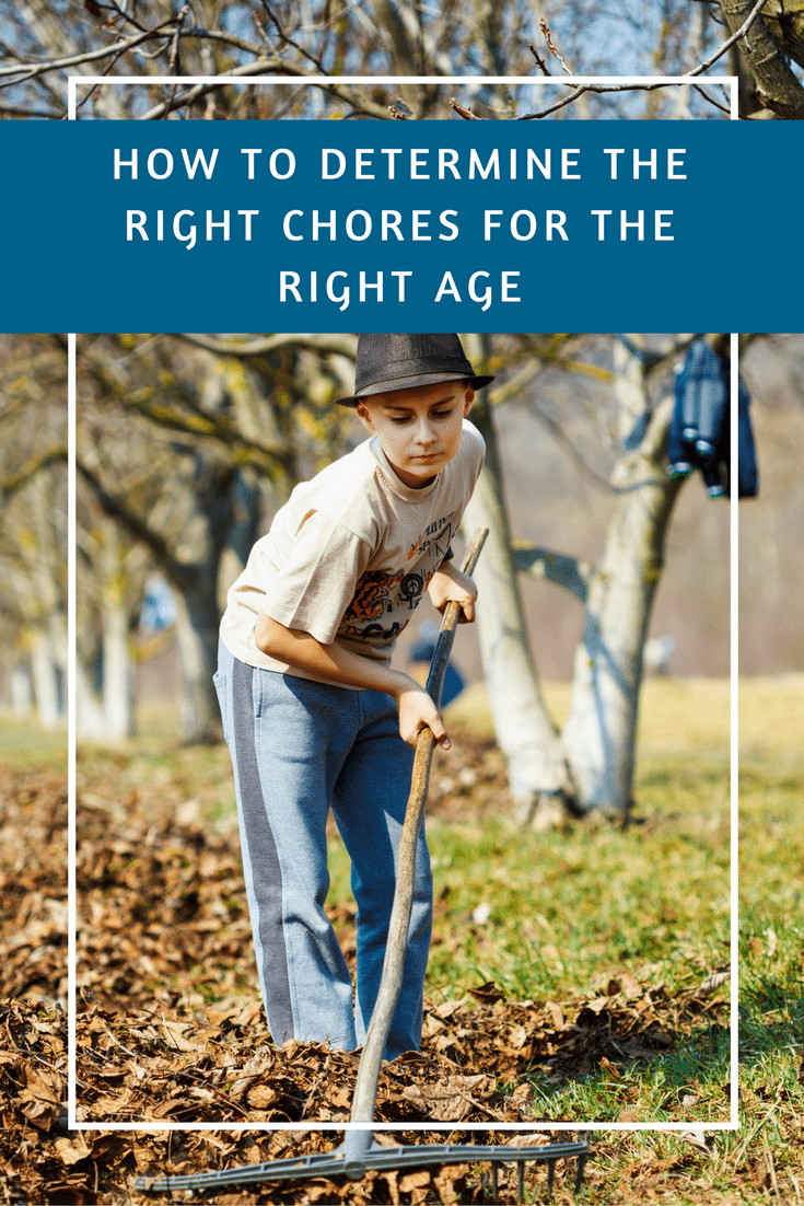 how to determine the right chores for the right age pin