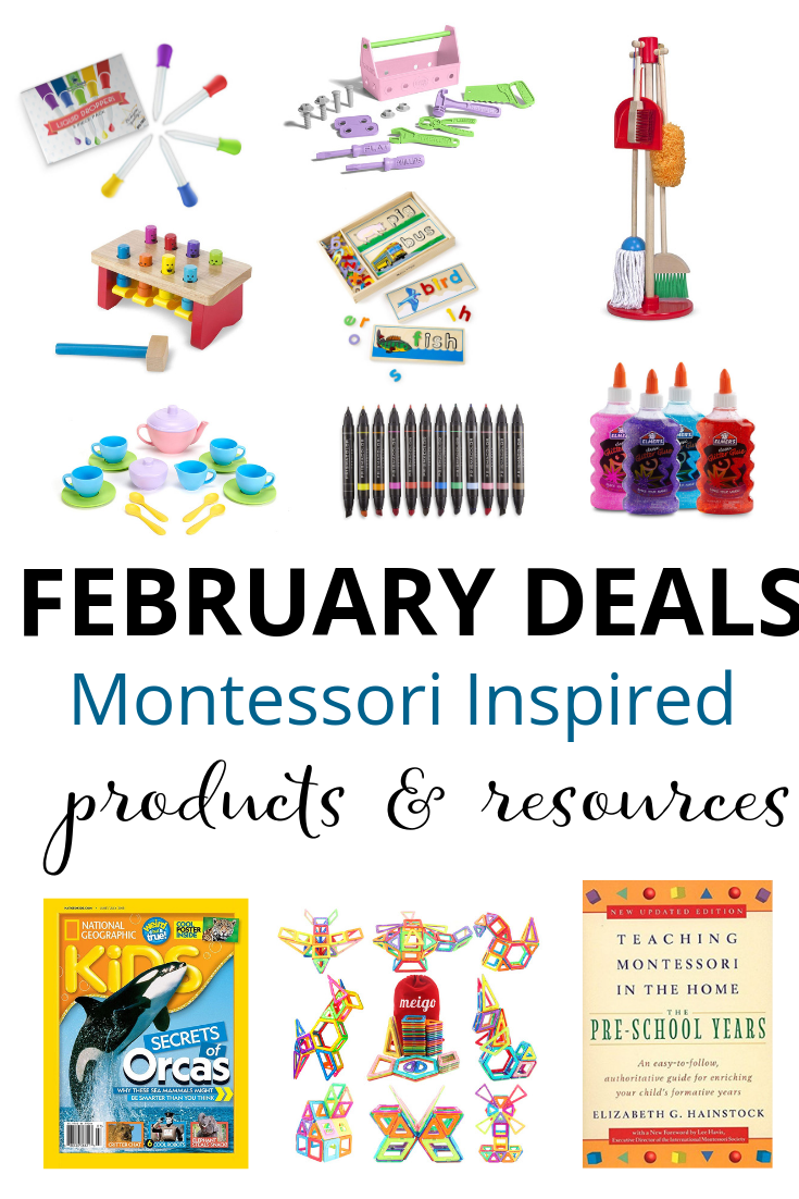 Montessori Deals on Amazon in February 2019