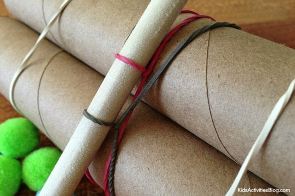 How to build a catapult with paper towel tubes