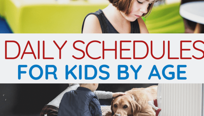 Create a Daily Schedule for Kids that Works for Your Family