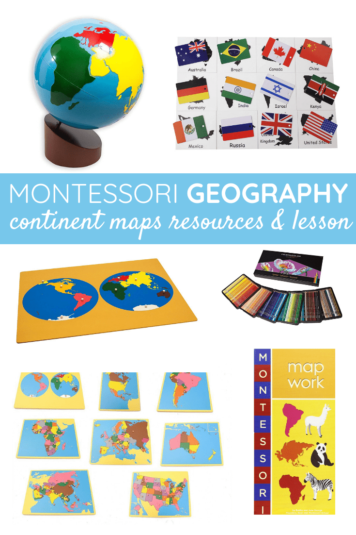 Learn Montessori Geography - Continents Map