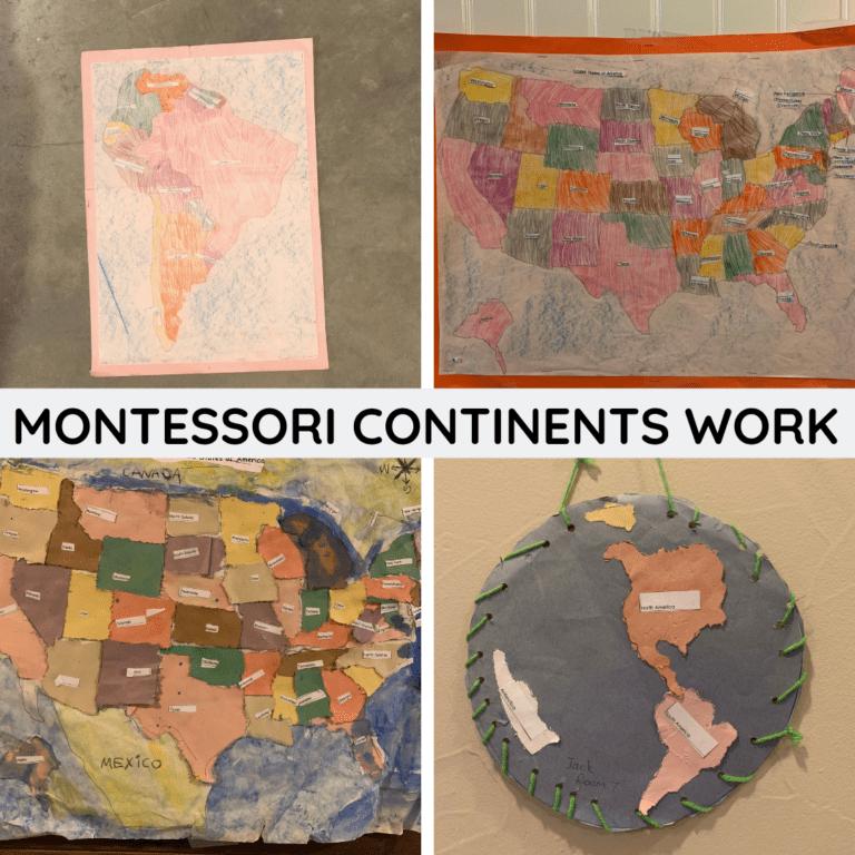 Montessori Continent Maps Work