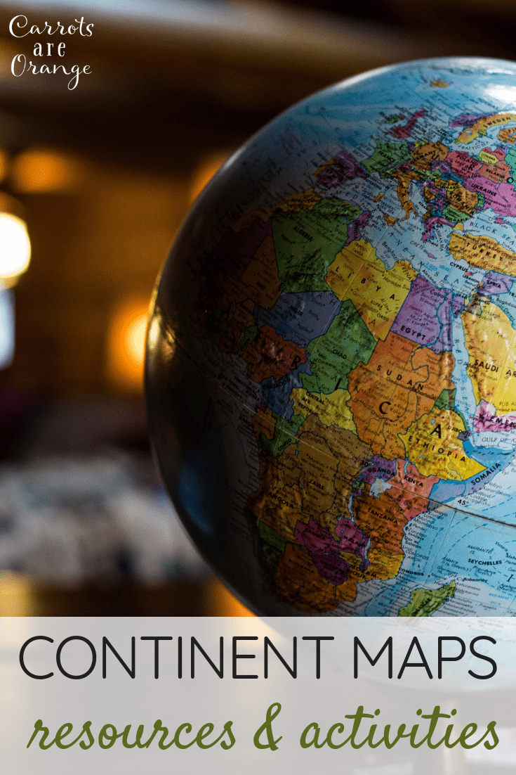 Learning Resources for Continent Maps