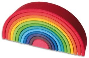 Montessori Toys - Rainbow Stackers