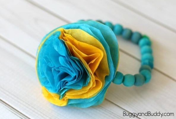 Unique DIY Mother's Day Gifts from Kids - Flower Bracelet