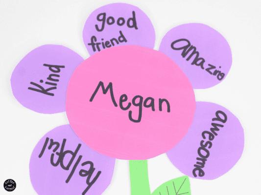 Kindness Crafts for Preschoolers - Kindness Flowers