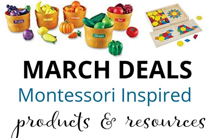 Montessori Deals on Amazon in March