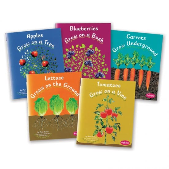 Montessori Services How Fruits & Vegetables Grow Set