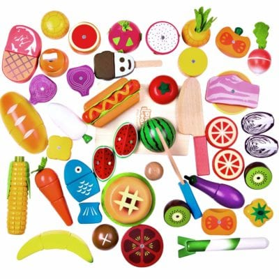 Wooden Food for Pretend Play