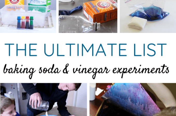 The Ultimate List of Baking Soda and Vinegar Experiments