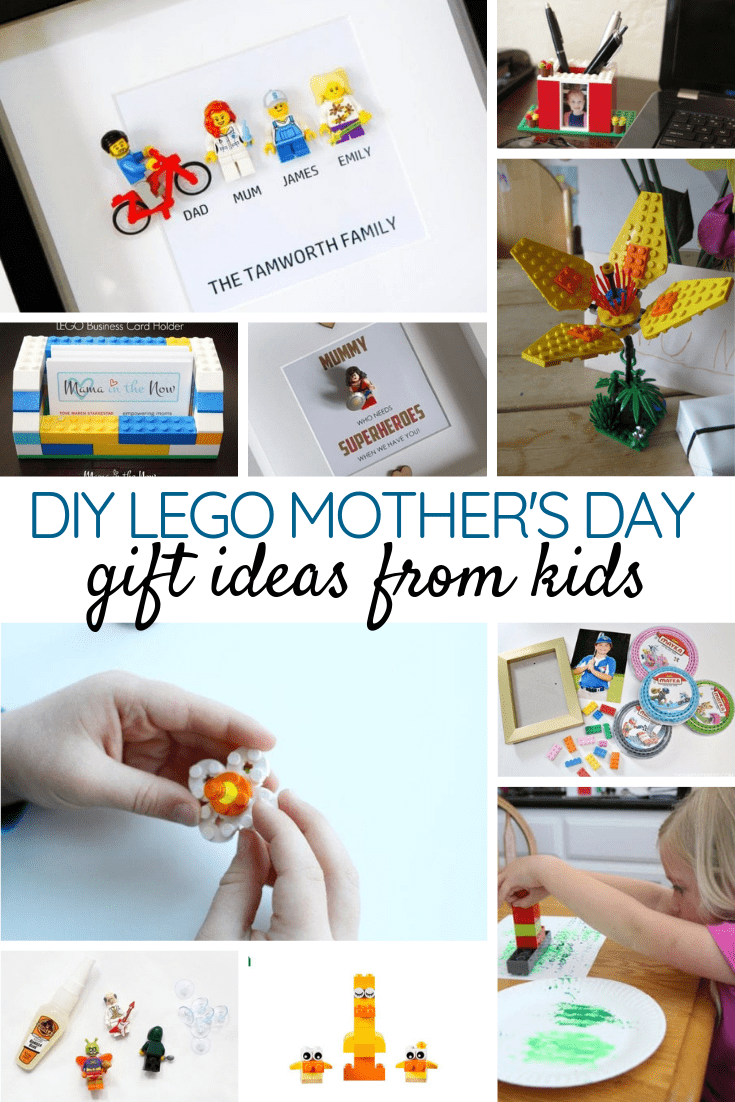 Unique DIY LEGO Mother's Day Gift Ideas from Kids