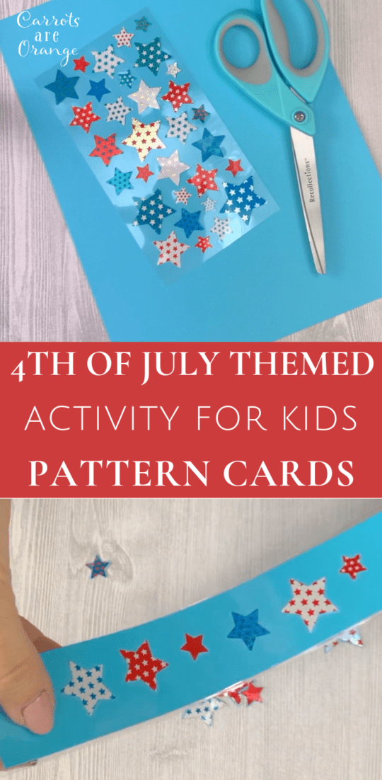 4th of July Themed Activity for Kids - Pattern Cards