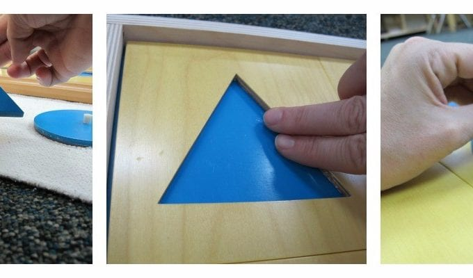 Geometry Cabinet How to Present the Early Childhood Lesson