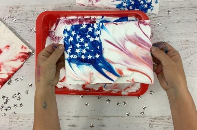 Marble Art American Flag