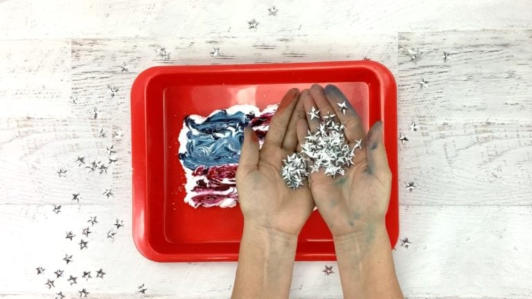 Easy Marbled Paper - Art Activity for Kids