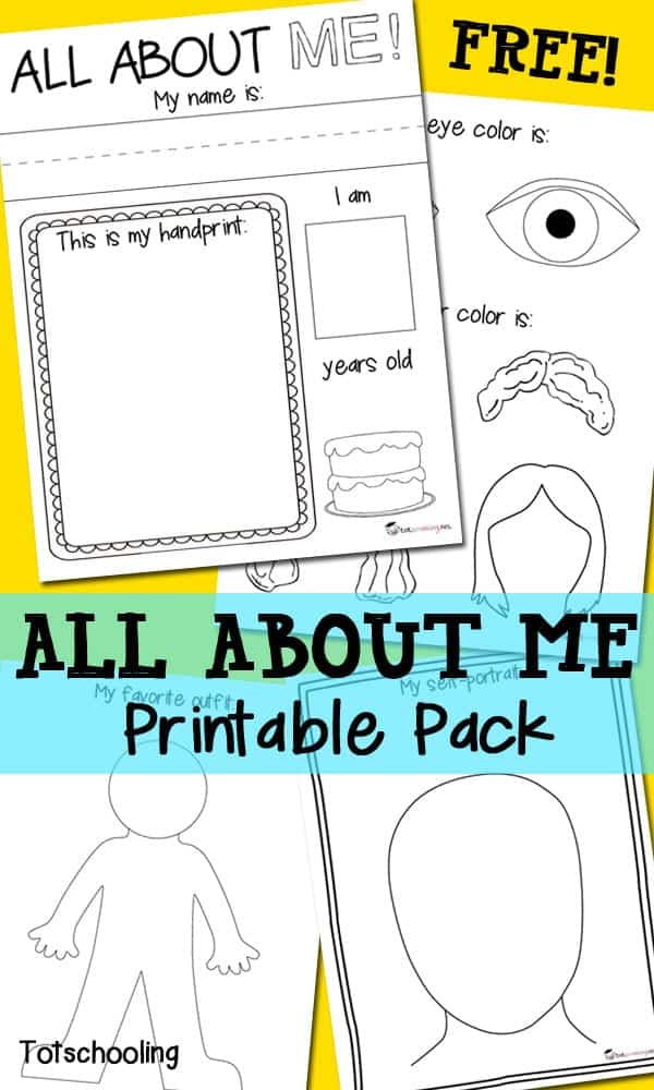 photo relating to All About Me Book Preschool Printable called The Ideal All Regarding Me Actions Printables for Back again towards College