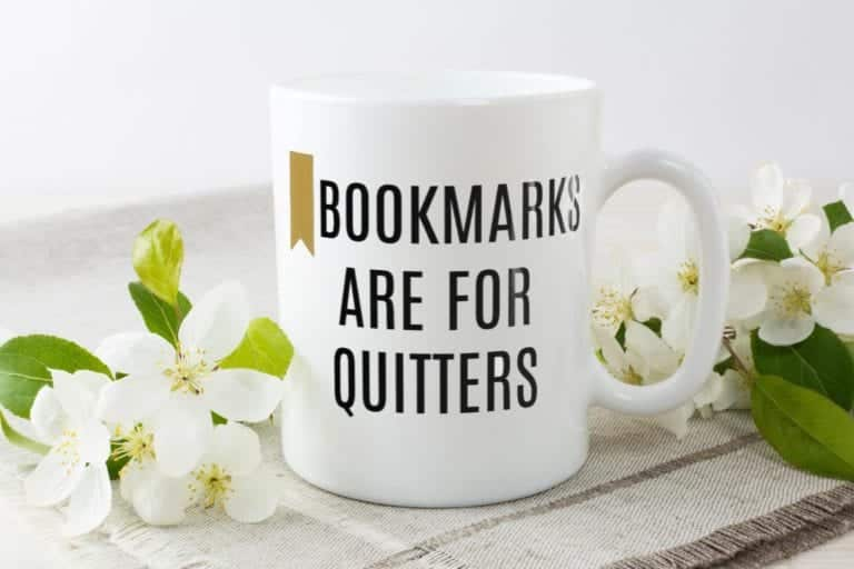 Books Are For Quitters Mug