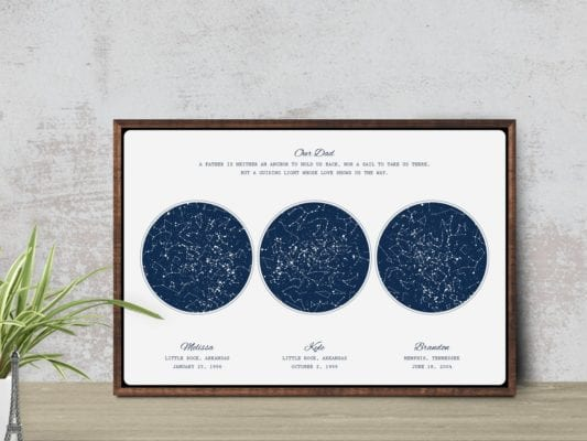 Constellation Print for Dad