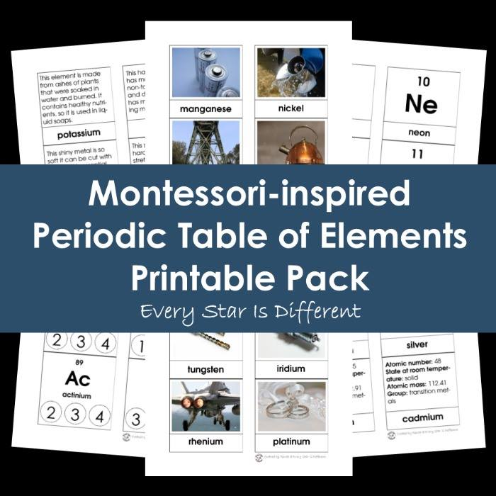 Teach Kids Chemistry with this Printables Set.
