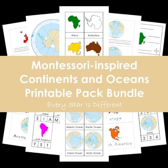 Continents and Oceans Montessori Unit